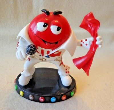 "M&m ""elvis"" Figurine, A Little M Conversation,limited # 4392,resin,2009,4.5"" Tll"