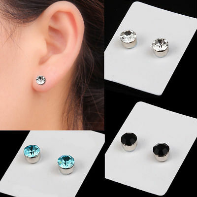 New Magnetic Pair Non Piercing Clip Magnet Ear Stud Mens Womens Fake Earrings