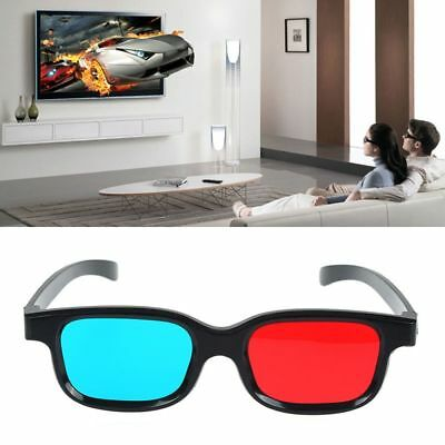 Game DVD Stereo Anaglyph Movie Black Frame Dimensional Red Blue 3D Glasses