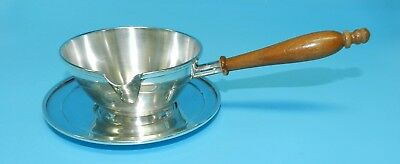 VTg 2 PC FRANK M. WHITING STERLING SILVER BRANDY WARMER SAUCE BOWL & UNDERPLATE