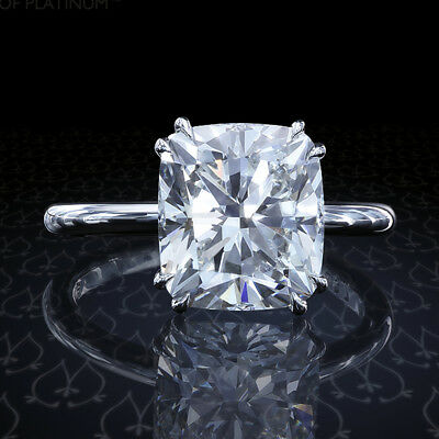 Cushion 2.50 Ct White Moissanite Engagement 925 Sterling Silver Forever Ring