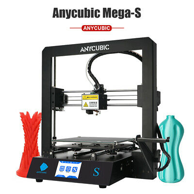 EU ANYCUBIC Newly Mega-S Upgrade 3D Printer with Extruder High precision TPU/ABS