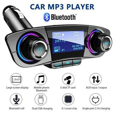 USB Car MP3 Player Multi-function Bluetooth Receiver Charger Cigarette Lighter