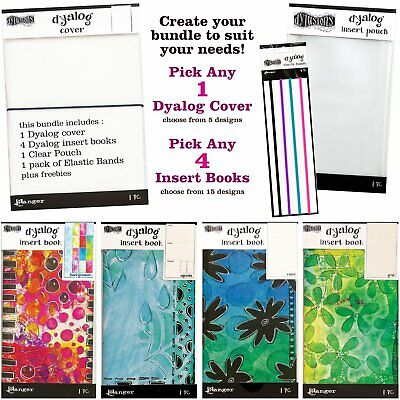 Dylusions - Dyalog Bundle - Starter Kit - 1 Cover and 4 Insert Books
