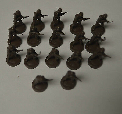 AXIS & ALLIES Board Game 1984-87 Replacement Infantry Soviet Union 17 Pieces !
