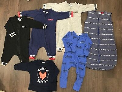 GUC Bonds Baby Boys Zip Wondersuits Sleeping Bag Jumper Bundle Size 00 Trucks