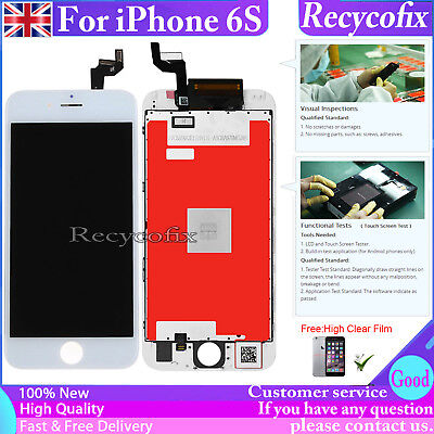 UK For iPhone 6S Screen Replacement Digitizer LCD Touch Display Assembly White