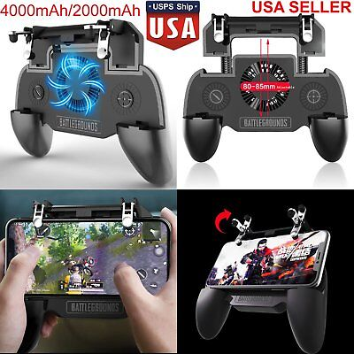PUBG Mobile Game Controller Joystick Cooling Fan Gamepad for Android iPhone US