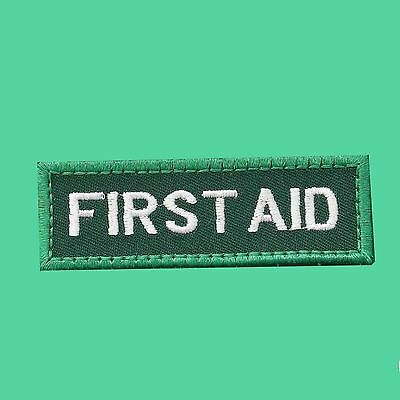 FIRST AID embroidered cloth patch badge  free choice of backings