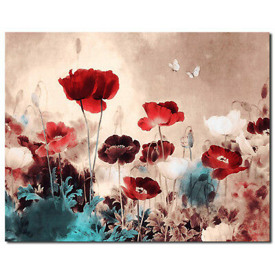 Flower Abstract Canvas Print Art Oil Painting Frameless Wall Picture Home Decor