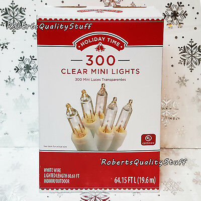 Holiday Time 300 Clear Mini Lights, White Wire, Wedding, Christmas, SHIPS FREE!!