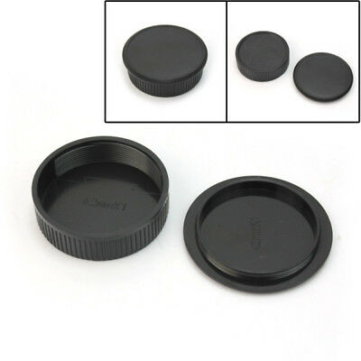42mm Plastic Front & Rear Cap Cover For M42 Digital Camera Body and Lens VOB
