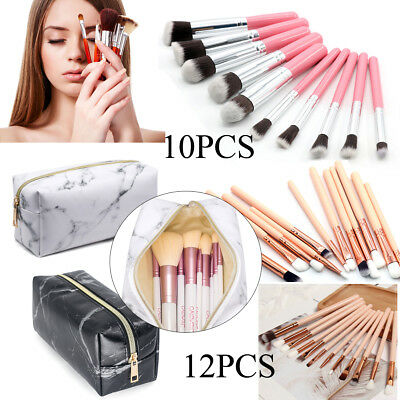 Make up brushes Set Eyeshadow Eyebrow Contour Powder Foundation Brush Bag Case