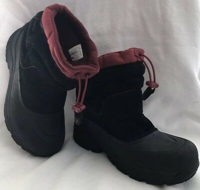 0e1e0251b BOYS NORTH FACE Boots Size 3 Alpenglow III atmosphere grey/ surf ...