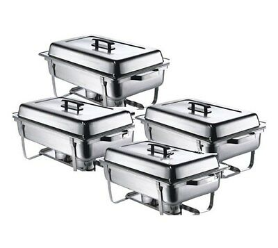 Four Pack Chafing Dish Pack Set. 4 x 1-1 GN Chafers - FREE P & P - LOW UK Price