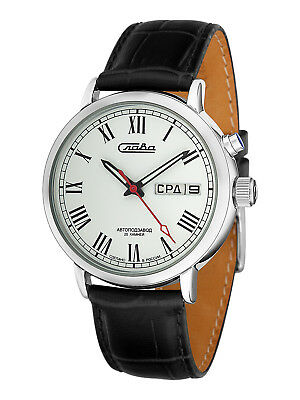Russian Men's Retro Automatic Wrist Watch SLAVA 1221291 USSR Слава SOVIET
