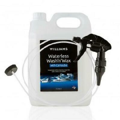 Williams Waterless Car Wash and Wax 5L Refill Jerry Can + 1 x Trigger