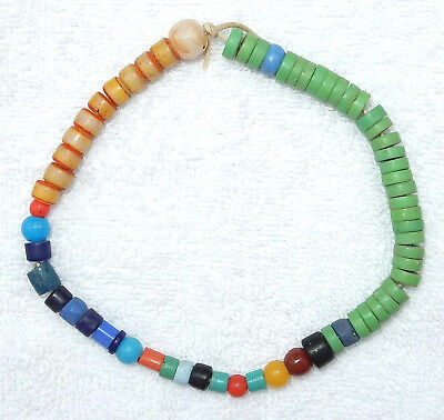 """Antique Assorted 12"""" Strand Bohemian Prosser Glass African Trade Beads"""
