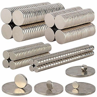 100x Super Strong Round Disc Magnet Rare Earth Neodymium N35 Magnetic Tool 6*1mm