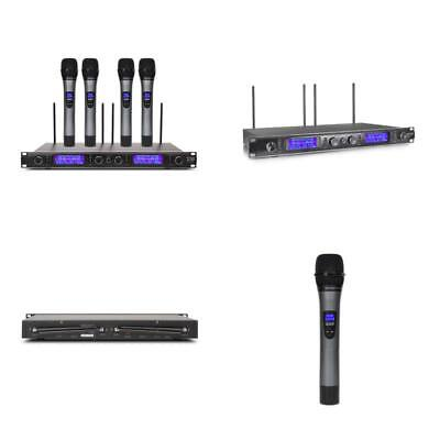 Xtuga UHF 4 Channel Wireless Handheld Microphone System UHF Wireless Microphone