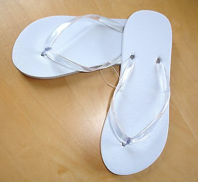 9ab515b25959fe 25 Pairs White Flip Flops - Only £1.20 Pair - Great Value Popular for  Weddings