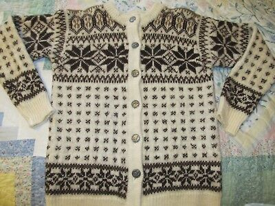 Wool Norwegian Knit Sweater - Made by DALE of Norway