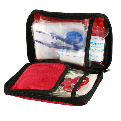 101PCS Safe Travel First Aid Kit Camping Hiking Medical Emergency Kit fr D6F5