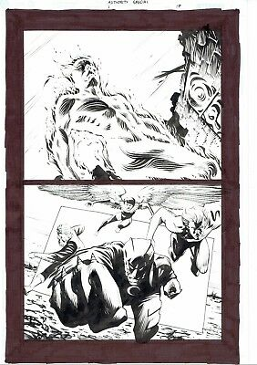 The Authority: Scorched Earth Original Art Page 17 by Frazer Irving Wildstorm DC