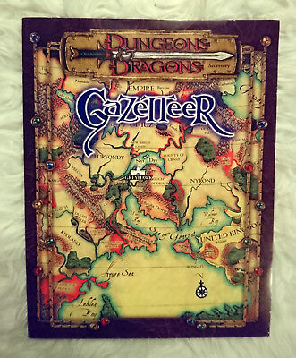 "Gazetteer (Dungeons & Dragons) - Greyhawk Empire / mit der Karte ""The Flanaess"""