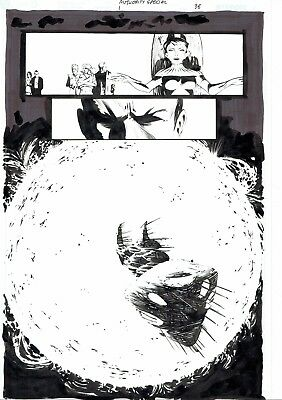 The Authority: Scorched Earth Original Art Page 38 by Frazer Irving Wildstorm DC