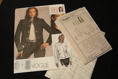 2008 Vogue Sewing Pattern V1036 For Multi Sized Casual Jacket By Sandra Betzina