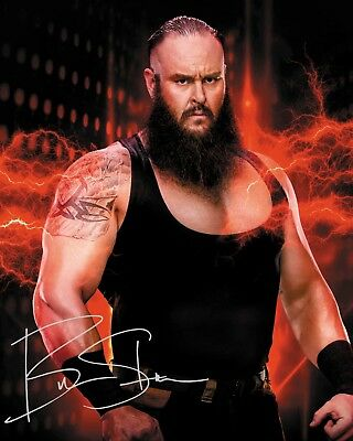 BRAUN STROWMAN #5 (WWE) - 10x8 PRE PRINTED LAB QUALITY PHOTO (SIGNED) (REPRINT)