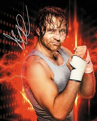 DEAN AMBROSE #4 (WWE) - 10x8 PRE PRINTED LAB QUALITY PHOTO (SIGNED) (REPRINT)