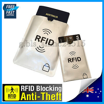 RFID Blocking Secure Sleeve Passport Credit Card AntiScan Protect Case Holder