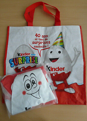 Jouet chocolat Kinder PLV gonflable personnage oeuf NEUF + sac 40e anniv. occ.