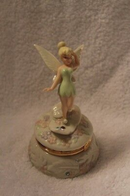 Disney Tinker Bell Anniversary Treasure Box Accented With 24 Karat Gold