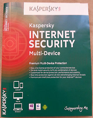 Kaspersky Internet Security MultiDevice 2019*1 anno * 3 Dispositivi*non-attivata