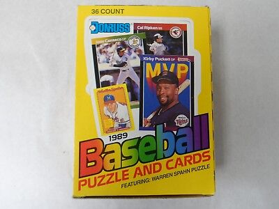 1989 Donruss  Baseball Card Wax Box From Sealed Case-36 Packs-Ken Griffey Rc ?