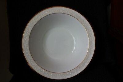 "Noritake White Palace Bone China 9 1/2"" Round Vegetable Salad Serving Bowl 4753"