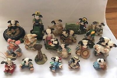 Vtg LOT OF 19 MARY'S MOO MOOS *ENESCO * Collection Collectibles