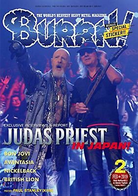 BURRN! February 2019 w/Poster Music Magazine