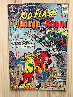 Brave and The Bold #54 First Printing DC Comic Book. 1st Appearance Teen Titans