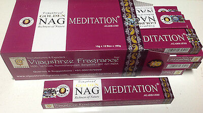 INCIENSO GOLDEN NAG  MEDITATION    15 GRAMOS  PACK DE 12 CAJAS TOTAL180  Gramos