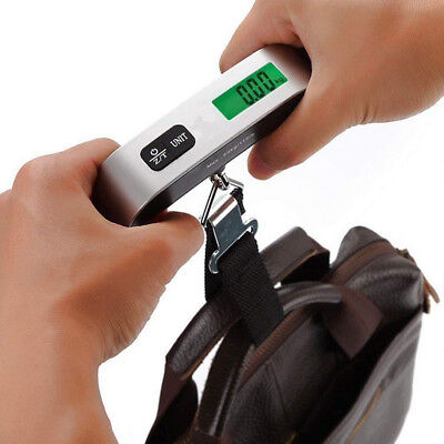 Scale Hook Luggage Digital Hanging Weight Portable Electronic Lcd 50kg New