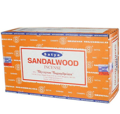 Incienso Sandalwood  Varillas  15 Gramos  Pack De 12 Cajas Total 180 Gramos