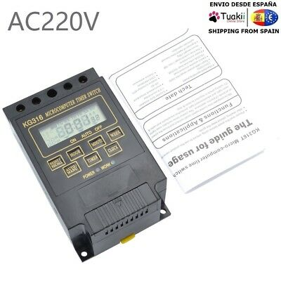 Timer Relay Switch Digital LCD DIN Programable Rail AC 220V 15A KG316T