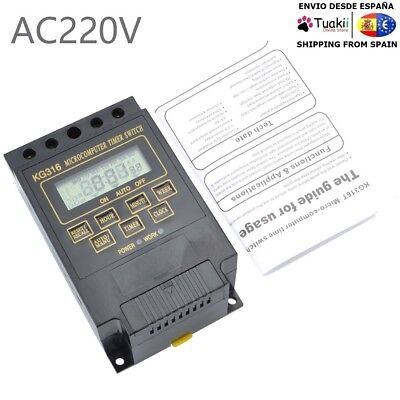 Timer Relay Switch Digital LCD DIN Programmable Rail AC 220V 15A KG316T