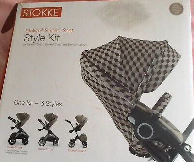 Stokke  Style Textiles ,brown And Beigh Melange Cube ,brand New Buy Now Price