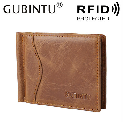 Men Fashion Leather Cowhide Wallet Bifold Retro Credit Card ID Holder Purse New