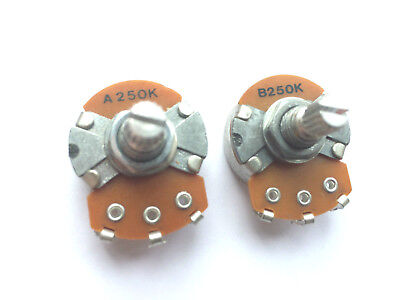 Alpha Potentiometers 15mm Shaft Length 250K for Guitar/Bass Volume or Tone NEW